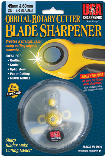 USA Sharpeners Orbital Rotary Cutter Knife Blade Sharpener, 45mm-60mmnohtin