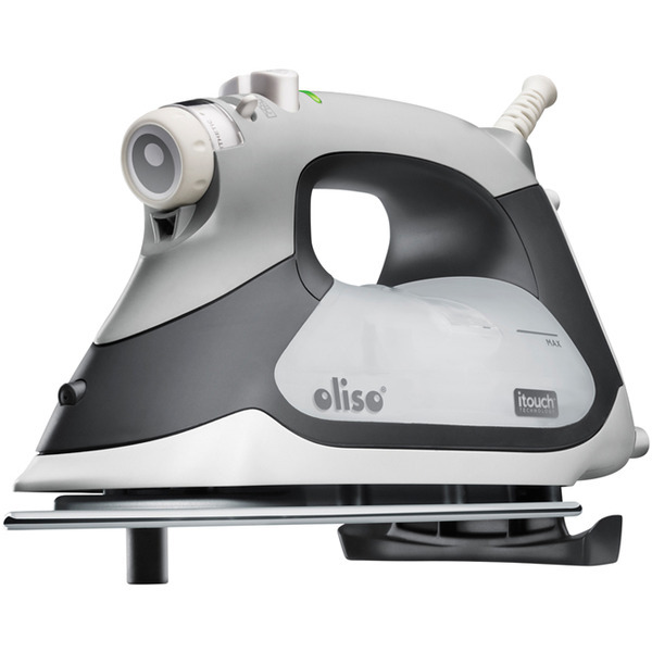 Oliso TG-1100 Continuous Steam Burst iTouch Smart Iron Has Legs! 8 Minute Auto Shut Off, Stainless Steel Soleplatenohtin