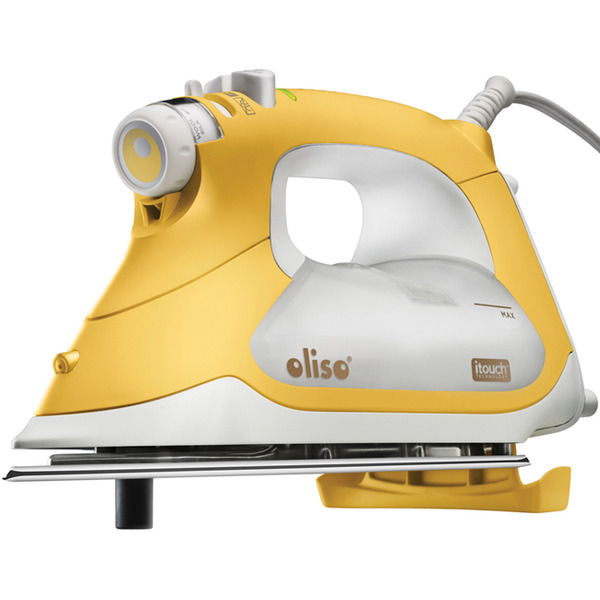 Oliso TG1600 Steam Burst iTouch Smart Iron Yellow, 30 Minute Auto Offnohtin