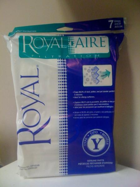 Royal Aire AR10140 Filtration Replacement Bags 6Pk for CR50005 Upright Vacuum Cleanernohtin