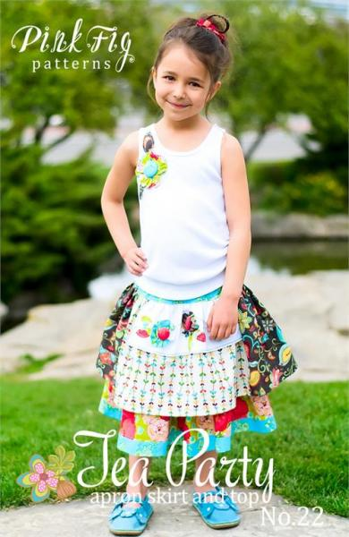 Pink Fig Tea Party Party Skirt & Top Pattern 12m-10yrsnohtin