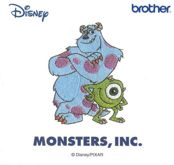 Brother SA310D Monsters,Inc Disney Embroidery Card only for Brother machines whose model number ends in D