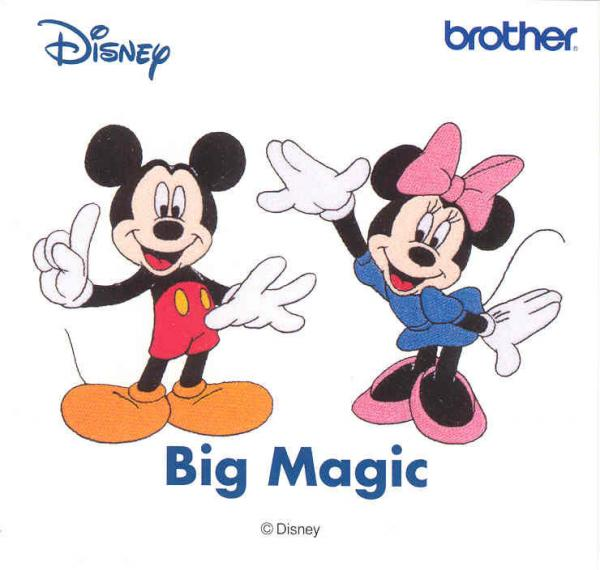 Brother SA311D Big Magic Disney Embroidery Card 5x7 Machines