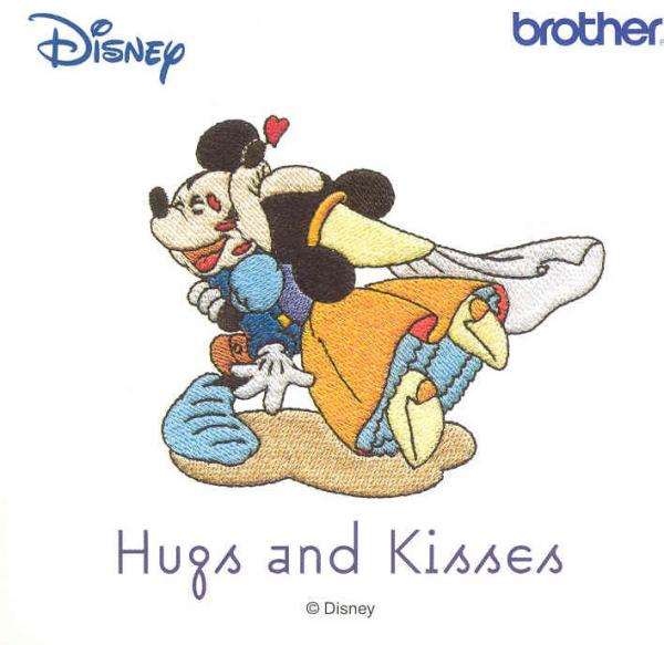 Brother SA312D Hugs and Kisses 25 Designs for 4x4 Hoop Sewing Area, Disney Embroidery Card, only for Brother Machines whose model number ends in D