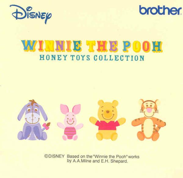 """Brother SA313D """"""""Winnie the Pooh Toy Collection""""""""Disney Embroidery Card only for Brother machines whose model number ends in D - REDUCED $30"""