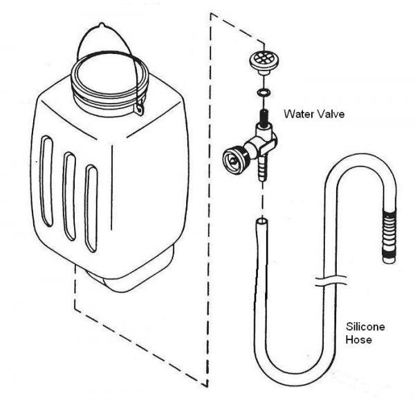 AceHi Silver Star 7-16100 Gravity Feed Iron Water Bottle, Filter Valve, No Hosenohtin