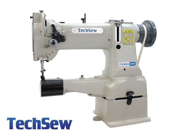 "TechSew 2700 10"" Cylinder Walking Foot Needle Feed Leather Stitcher Machine, Stand, 1/2"" Lift, Small L Bobbinnohtin"