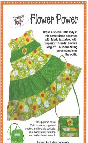 Texture Magic PBA 178 Flower Power Tiered Dress Sizes 3-4 Pattern Also Includes Purse Patternnohtin