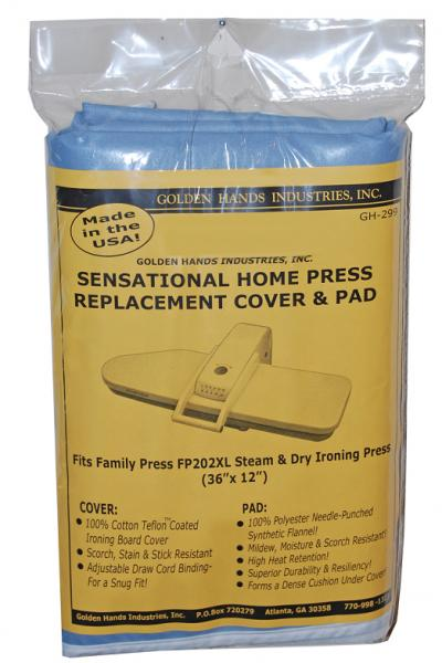 """Golden Hands GH-299 Cover Pad 36x12"""" for Family Steam Press FP202XLnohtin"""