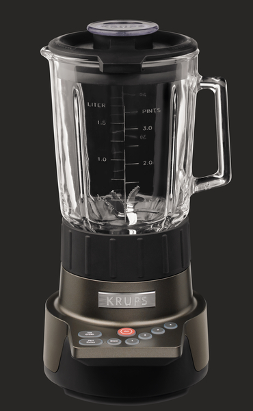 Krups KB790T StandMixer Blender KB-790 T Titanium Finish BLACK, 1.75L, 1100 Watts, 4 Speed, Glass Bowl, Ice Crusher, Protective Cover, Safety Lock 5Kg