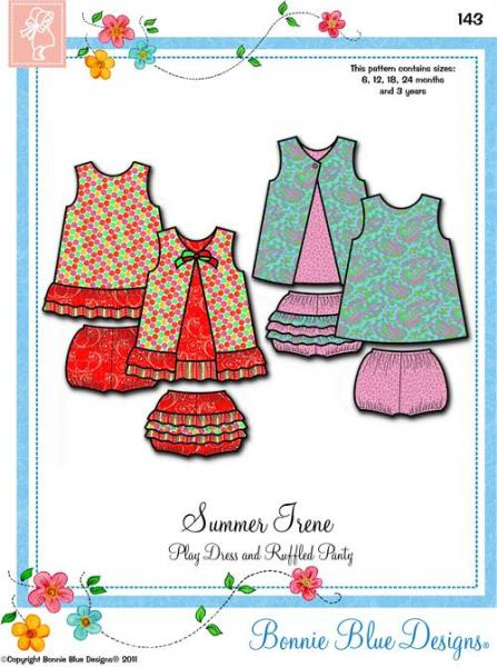 Bonnie Blue BBDP143 Summer Irene Dress Sewing Pattern Sizes 12Mo-3Yrs