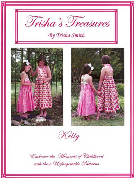 Trishas Treasures tt-kelly Kelly The Halter Dress Pattern Sizes 1 - 6 And 7 - 12