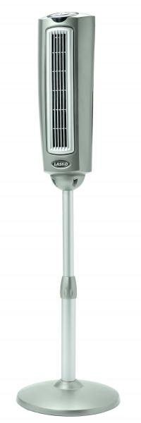 "Lasko 2535 52"" Space-Saving Oscillating Pedestal Fan with Remote Control, 3-Speednohtin"