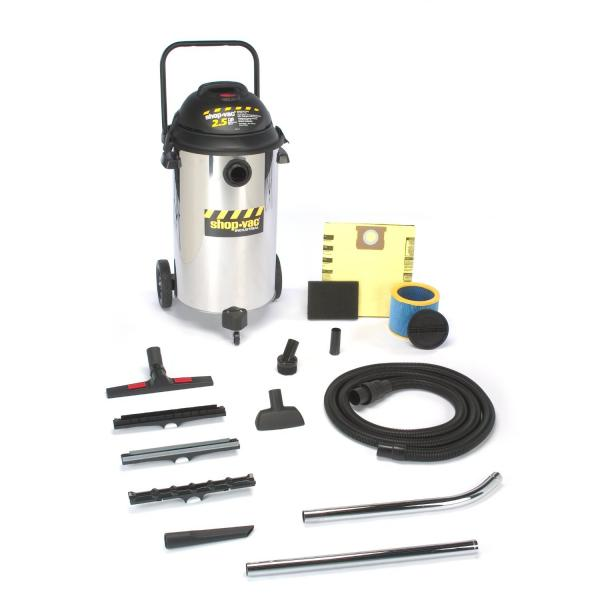 Shop-Vac 001-9624910 2.5-Peak Horsepower Industrial Stainless Steel Wet/Dry Vacuum 20-Gallon
