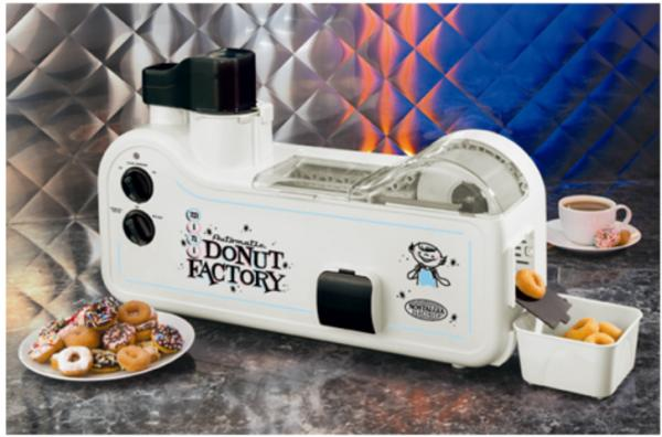 Nostalgia Electrics Dough-Nu-Matic MDF200 Automatic Mini Donut Factory Donut Makernohtin