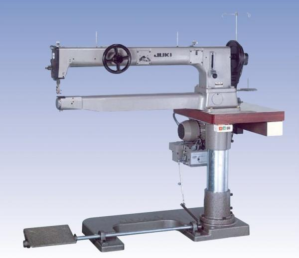 "Juki TSC-461 Super Long Arm 37.5"" Cylinder Bed Single Needle Feed Walking Foot Sewing Machine TSC461, 11mmSL, 20mmLift, & Pedestal Power Stand 650RPMnohtin"