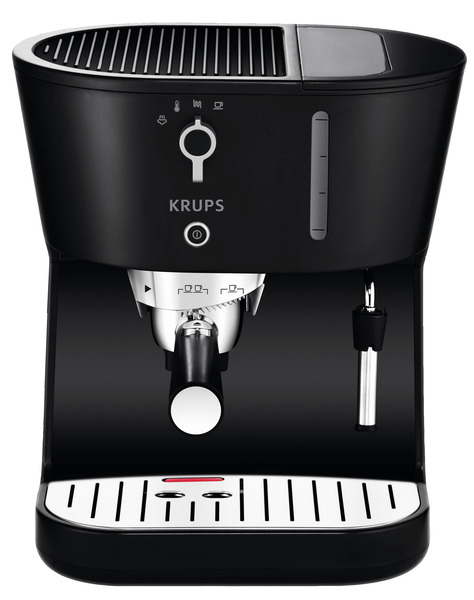 Krups XP4200 Perfecto Black with Precise Tamp Espresso, Universal Filter Holder,Make Single or Double Shots,Multi-directional Frothing Nozzle, 1450W