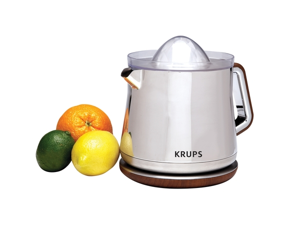 Krups ZX800Silver Art Collection Citrus Press,Universal Cone,Right or Left Handed Use,1.25 quart Capacity,360 degree Roatational Base,Exclusive Design