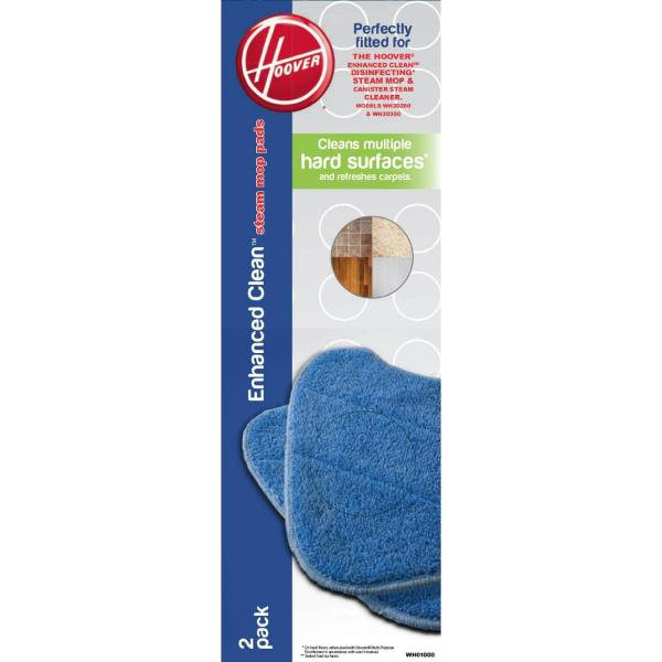 Hoover WH01000 Steam Mop Pads 2 Pads In Pack OEM Hoover Pads Fits Models: WH20200, WH20300 WH1000nohtin