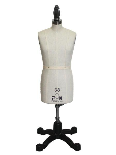 "PGM Pro 616 Miniature Half Scale 38 or 40 Mens Male Dress Form 17.5""Hnohtin"