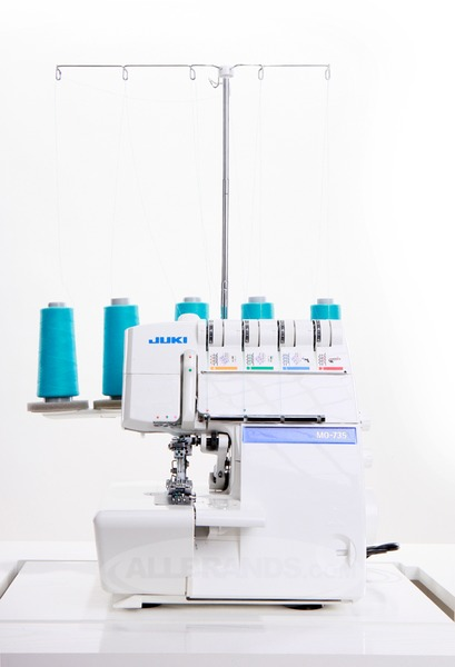 Juki Demo MO735DE 2345 Thread Serger + 2-3 Needle Cover Hem Stitches +Single Chain Stitch Machine, Rolled Hems, Differential Feed,nohtin