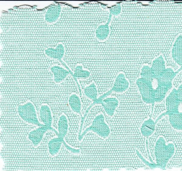 "Bear Threads Pique Jacquard Floral Mint Green 10 Yd Bolt 100% Swiss Cotton 60"" Widenohtin"