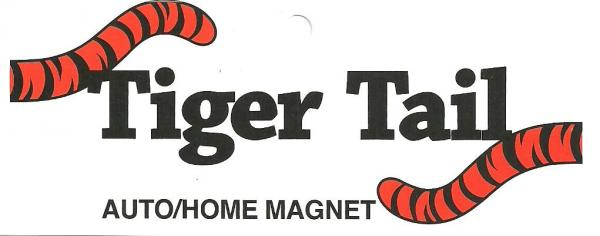 Tiger Tail Magnetic Auto Bumper Sticker or Refrigerator Magnet 5540, for Sports Team Fans & LSU Bengals in AllBrands Hometown of Baton Rouge Louisiananohtin