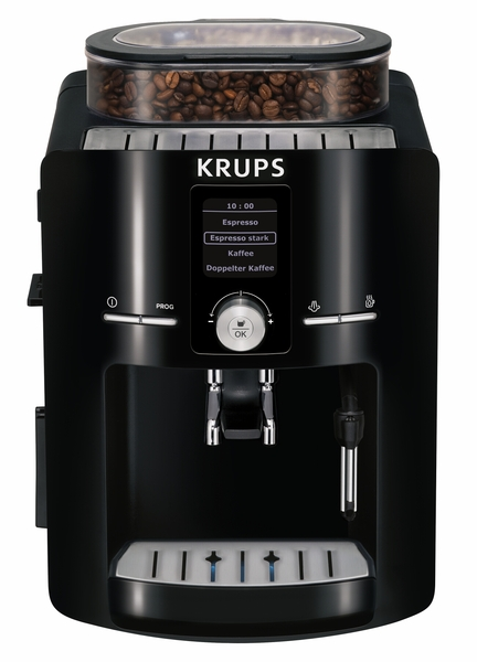 Krups EA8250001 Espresseria Super Automatic Espresso Machine, XS6000 Liquid Cleaner, Piano BLACK, 1.8 Liter Tank, Optional 5-10 Year Warranties, 10Lbs