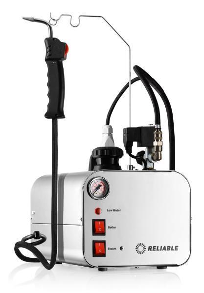 Reliable 5000CD Dental Steam Cleaner, 2.5Liter Stainless Steel Tank, 3.5Bar, 50PSI, i37 Steam Gun, 8´ Hosenohtin
