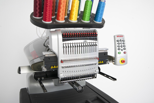 "Melco Bravo PkgB - 16 Needle 14x12"" Embroidery Machine +Extras, Bonus Cap Option Included for Jan 2017nohtin Sale $10495.00 SKU: BRAVOPACKB :"
