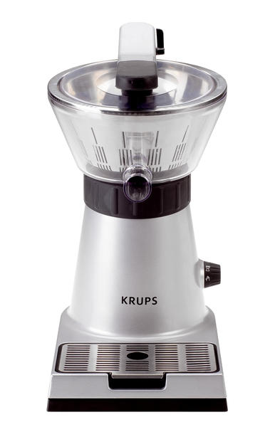 "Krups ZX700042 Stainless Steel Citrus Juice Press Extractor 11x7x13""H 130W, Manual or Auto Motor Lever, PulpFilter NoDripSpout DripTray WashSareParts"