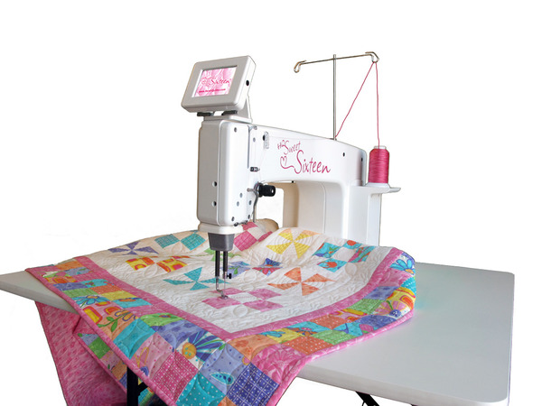 Handi Quilter Demo HQ Sweet Sixteen 16x8 Longarm Sit Down Quilting Machine, Table, TruStitch, 1500SPM (Babylock Tiera) for Pick Up at AllBrands Storesnohtin