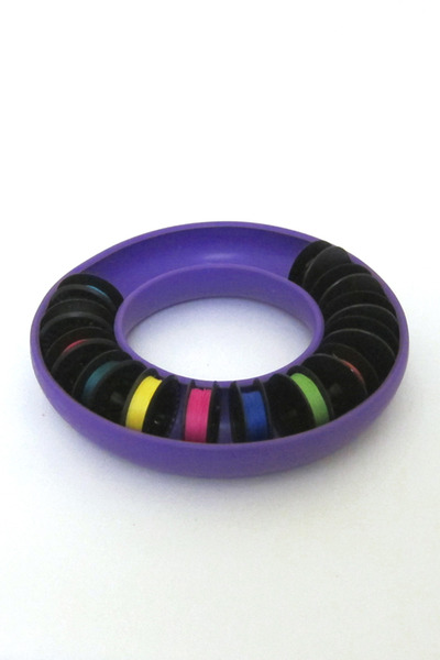 Blue Feather BF702 Jumbo Bobbin Saver Ring PURPLE, Holds over 20 metal or plastic bobbins of all different sizes. threads won't tangle or unwind