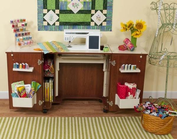Kangaroo Kabinets by Arrow K8205 Bandicoot Sewing Machine Cabinet Teaknohtin