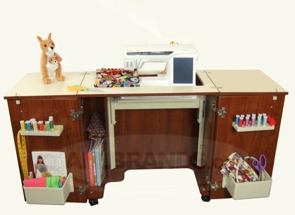 Kangaroo Kabinets by Arrow K8205 Bandicoot Sewing Machine Cabinet Teak