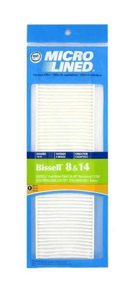 Bissell Replacement Br-1860 Filter, Exhaust Style 8 Hepa Lift Off Bagless Dvcnohtin