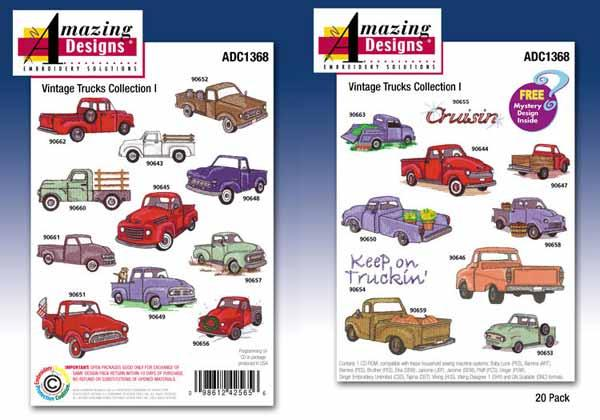 Amazing Designs / Great Notions 1368 Vintage Trucks Collection I Multi-Formatted CD
