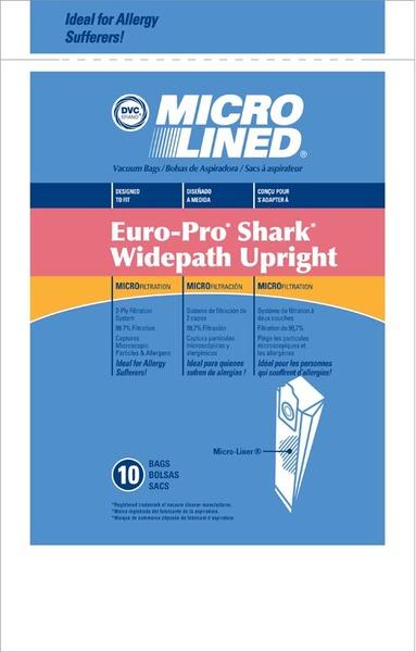 Europro Eur-1470 Paper Bag, Microlined Shark Upright Dvc 10Pknohtin