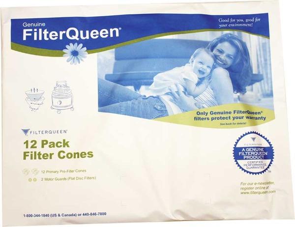 Filter Queen Fq-50047 Filter Cone, Paper Filter Queen 12Pk FQ-50047