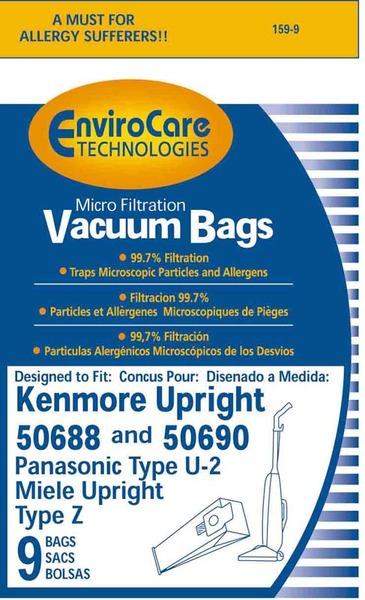 EnviroCare 159-9 Kenmore Replacement Paper Bag, 50688 HB Micro Env 9 Pknohtin