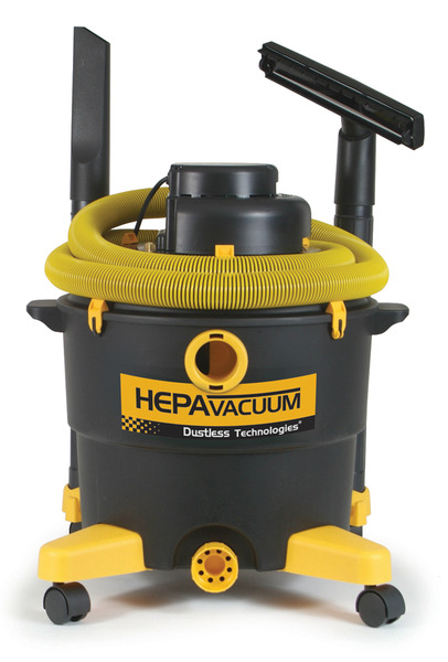 "LoveLess Ash 16006 Drywall Dry Paint Wet Dry Vacuum Cleaner Love Less, Hepa Filter, 16 Gallon, 126CFM, 76"" Water Lift, 79dB, 10.6 Amp, 12' Hose, Tools"