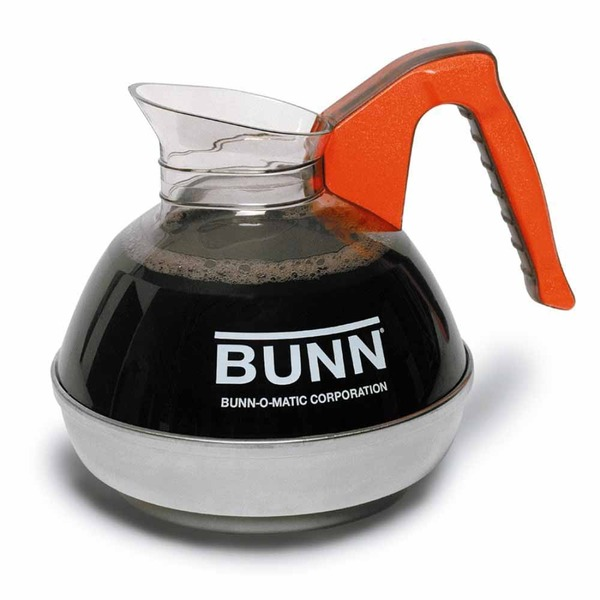 Bunn 6101 Easy Pour Commercial 12-Cup Decaf Coffee Decanter, Orange Coffee Machine