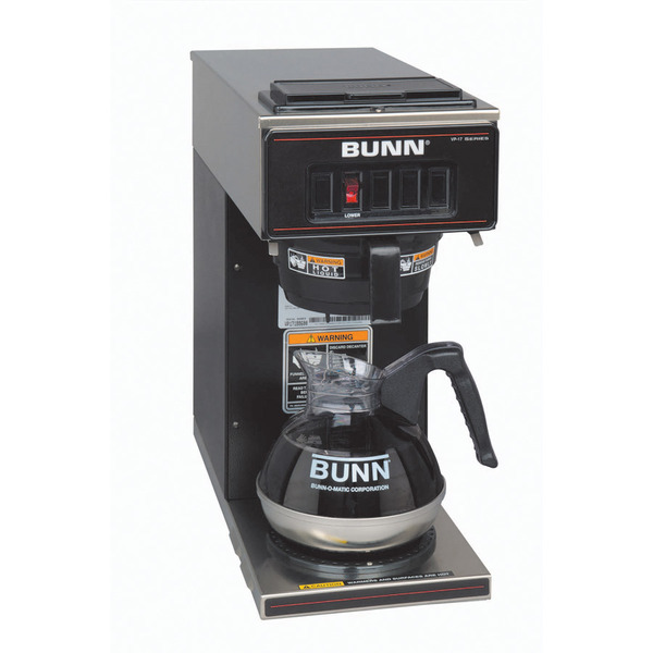 Bunn VP17-1 BLK Pourover Coffee Brewer with One Warmer, Black Coffee Machinenohtin
