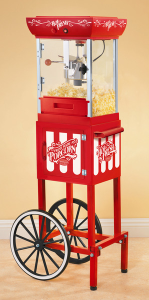 "Nostalgia Electrics CCP399 Vintage Collection 48"" Old Fashioned Movie Time Popcorn Cartnohtin"