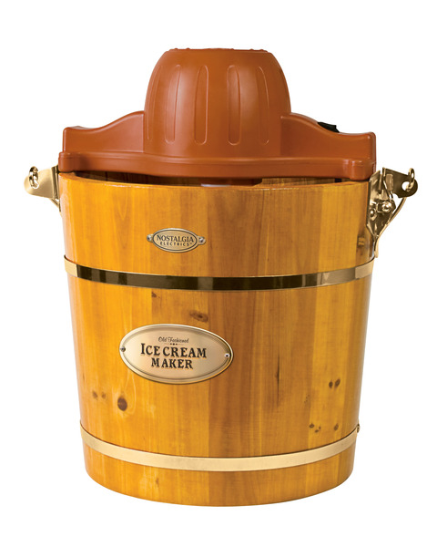 Nostalgia Electrics ICMW400 4-Quart Wooden Bucket Electric Ice Cream Maker