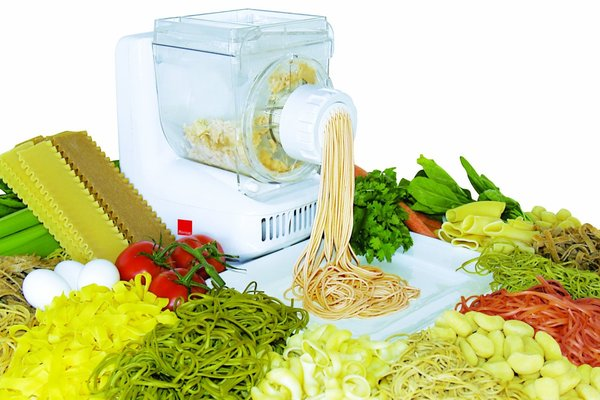 Ronco PM1005WHGEN Pasta Maker, 12 dies plus sausage maker attachments, mixes, kneads and shapes fresh pasta, cookies and small bagels