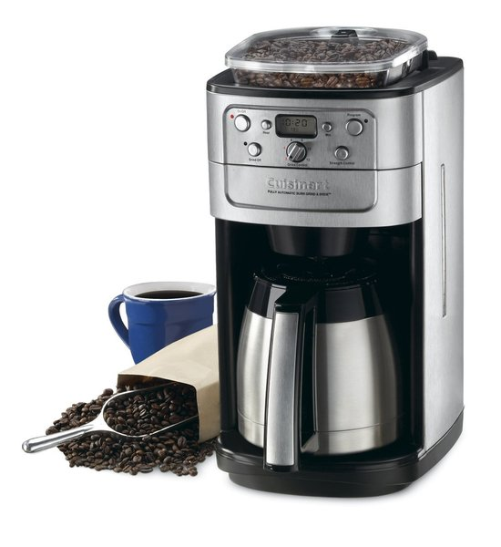 Cuisinart DGB-900BC Grind & Brew Thermal 12 Cup Automatic Coffee Maker, Brushed Stainless Black, 8oz Burr Grinder, 24Hr Programming, Insulated Carafe