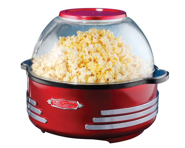 Nostalgia Electrics RSP100RETRORED Retro Series Stirring Popcorn Maker