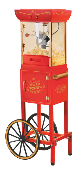 "Nostalgia Electrics CCP400 Vintage Collection 48"" Old Fashioned Movie Time Popcorn Cart"