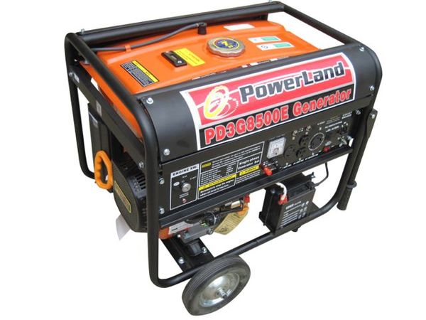 Powerland PD3G8500E Tri-Fuel Generator, Gasoline Propane Natural Gas, 7 Gallons, 8500W, 16HP, 120/240V 60Hz, Electric Start, 4 Outlets, 8-10Hr Runtime